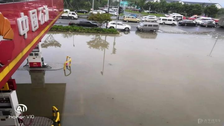 油中含水,加油枪无法出油 中石油就加油站被淹回应